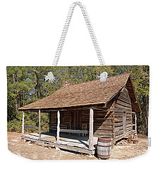 Weekender Tote Bag featuring the photograph Log Cabin by Charles Beeler