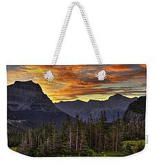Logan Pass Sunrise Weekender Tote Bag
