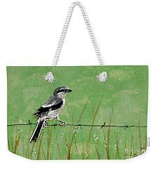 Loggerhead Shrike Weekender Tote Bag by Stefanie Forck
