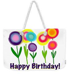 Weekender Tote Bag featuring the digital art Lollipop Flowers  by Christine Fournier
