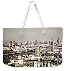 London Cityscape Weekender Tote Bag by Elena Elisseeva