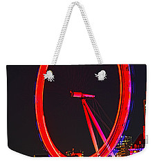 London Eye Red Weekender Tote Bag
