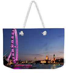 London Eye Weekender Tote Bag by Rod McLean