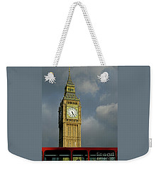 Weekender Tote Bag featuring the photograph London Icons by Ann Horn