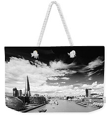 Weekender Tote Bag featuring the photograph London Panorama by Chevy Fleet