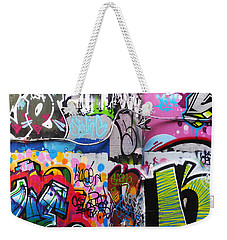 London Skate Park Abstract Weekender Tote Bag by Rona Black
