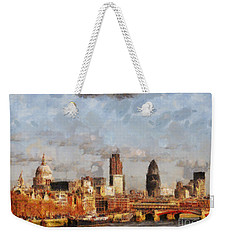 London Skyline From The River  Weekender Tote Bag by Pixel Chimp