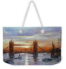 London Tower Bridge Weekender Tote Bag by Irek Szelag