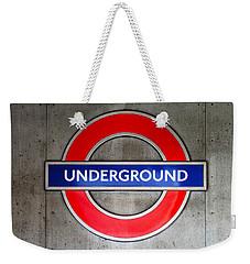 London Underground Sign Weekender Tote Bag