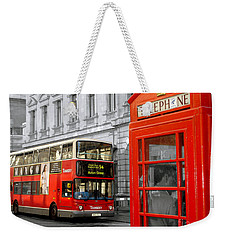 London With A Touch Of Colour Weekender Tote Bag by Nina Ficur Feenan