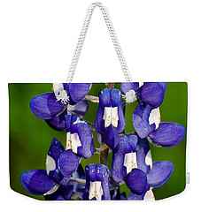 Weekender Tote Bag featuring the photograph Lone Bluebonnet by Dee Dee  Whittle