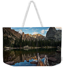 Weekender Tote Bag featuring the photograph Lone Eagle Reflection by Steven Reed