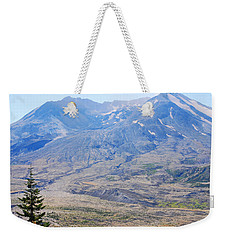 Lone Evergreen - Mount St. Helens 2012 Weekender Tote Bag by Connie Fox