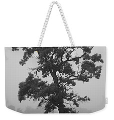 Weekender Tote Bag featuring the photograph Lone Oak by Viviana  Nadowski