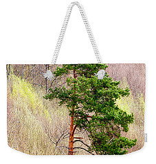 Weekender Tote Bag featuring the photograph Lone Pine by Les Palenik