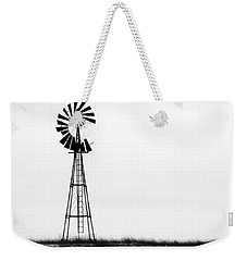 Weekender Tote Bag featuring the photograph Lone Windmill by Cathy Anderson