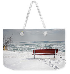 Lonely Bench Weekender Tote Bag by Susan  McMenamin