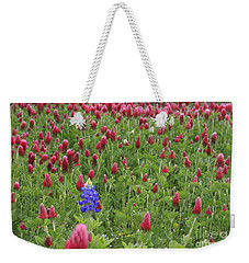 Lonely Bluebonnet Weekender Tote Bag by Jerry Bunger