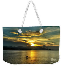 Lonely Fisherman Weekender Tote Bag