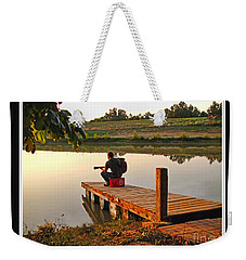 Lonely Guitarist Weekender Tote Bag by Debbie Portwood