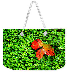 Weekender Tote Bag featuring the photograph Lonely Leaf by Charlie and Norma Brock