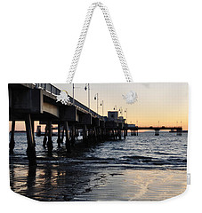 Weekender Tote Bag featuring the photograph Long Beach Pier by Kyle Hanson