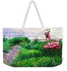 Long Beached Buoy Weekender Tote Bag