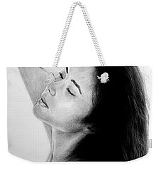 Long Haired Asian Beauty Weekender Tote Bag by Jim Fitzpatrick