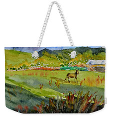 Long Shadow Storm Weekender Tote Bag by Beverley Harper Tinsley