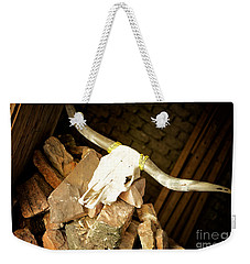 Weekender Tote Bag featuring the photograph Longhorn by Erika Weber