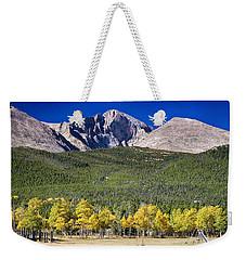 Longs Peak A Colorado Playground Weekender Tote Bag