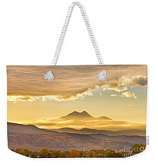 Longs Peak Autumn Sunset Weekender Tote Bag