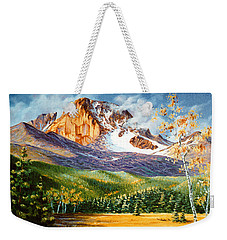 Weekender Tote Bag featuring the painting Longs Shadows by Craig T Burgwardt