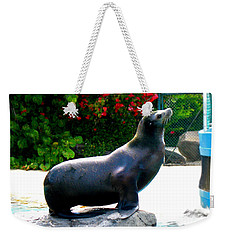 Weekender Tote Bag featuring the photograph Look At Me by Kristine Merc