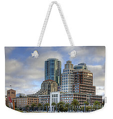 Weekender Tote Bag featuring the photograph Looking Downtown by Kate Brown