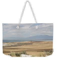 Weekender Tote Bag featuring the photograph Looking North From Antelope Island by Belinda Greb