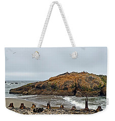 Looking Out On The Pacific Ocean From The Sutro Bath Ruins In San Francisco  Weekender Tote Bag by Jim Fitzpatrick