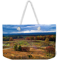 Looking Over The Gettysburg Battlefield Weekender Tote Bag