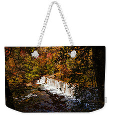 Looking Through Autumn Trees On To Waterfalls Fine Art Prints As Gift For The Holidays  Weekender Tote Bag by Jerry Cowart