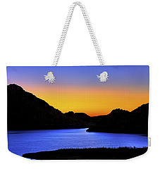 Looking Through The Quartz Mountains At Sunrise - Lake Altus - Oklahoma Weekender Tote Bag