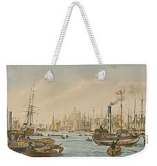Looking Towards London Bridge Weekender Tote Bag by William Parrot