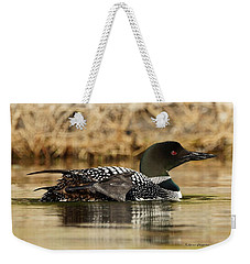Weekender Tote Bag featuring the photograph Loon 10 by Steven Clipperton