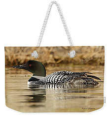 Weekender Tote Bag featuring the photograph Loon 11 by Steven Clipperton