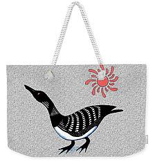 Loon And Sun Weekender Tote Bag