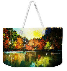 Autumn In Loon Country Ll Weekender Tote Bag