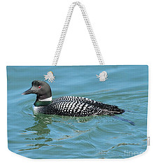 Weekender Tote Bag featuring the photograph Loon by Debbie Stahre