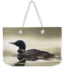 Loon In Still Waters Weekender Tote Bag