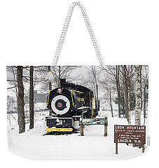 Loon Mountain Train Weekender Tote Bag