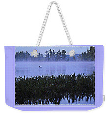 Loon On A Misty Morning At Parker Weekender Tote Bag