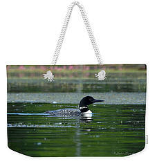 Loon On Indian Lake Weekender Tote Bag by Steven Clipperton